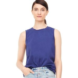Rebecca Taylor Embroidered Jersey sleeveless tee
